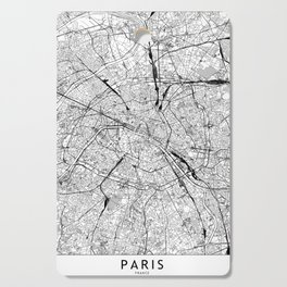 Paris White Map Cutting Board