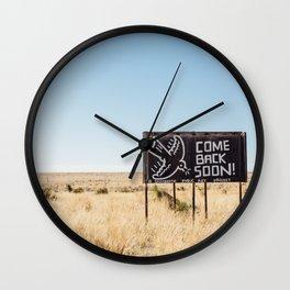 Leaving Marfa Wall Clock