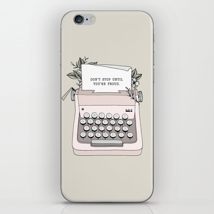 Don't Stop iPhone Skin