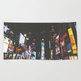 Evening Glow - Times Square Beach Towel