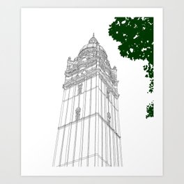 London Queen's Tower Art Print