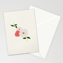 Love-Ly Flowers Pink & White Stationery Cards