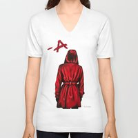 "pretty little liars V-neck T-shirts featuring Pretty Little Liars - ""Red Coat"" 