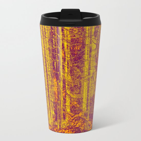 In the middle of the forest Metal Travel Mug