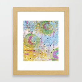 Summer Kaleidoscope Framed Art Print
