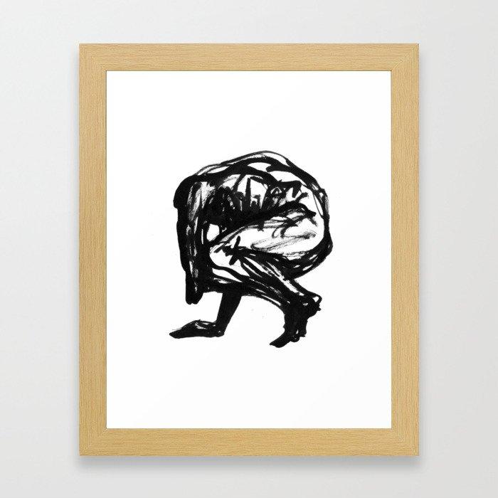 Boceto gestual 5 Framed Art Print