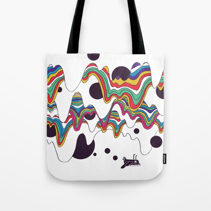 Psychedelic Planet Tote Bag