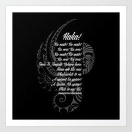 Haka #1 Art Print