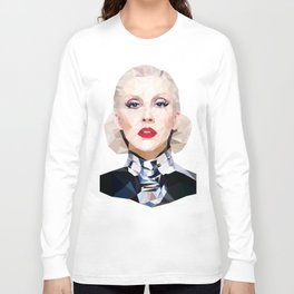 Low Poly Portrait Long Sleeve T-shirt