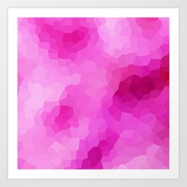 Modern Abstract Pink Polygonal Shapes Art Print