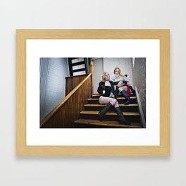 Power Girl and Black Canary 4  Framed Art Print