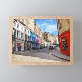 Edinburgh Grassmarket Framed Mini Art Print