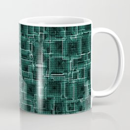 The Maze - Teal Coffee Mug