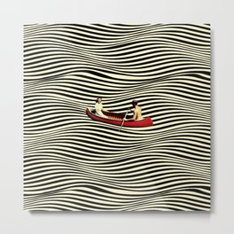 Illusionary Boat Ride Metal Print