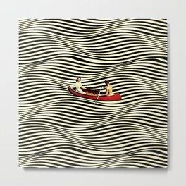 Illusionary Boat Ride Metal Print