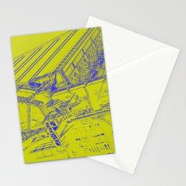 Manhattan Bridge - Green Stationery Cards