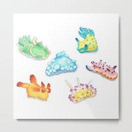 Sea Slugs Metal Print