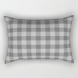 Dark Grey Buffalo Plaid Rectangular Pillow