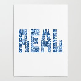 Real Madrid 2018 - 2019 Poster