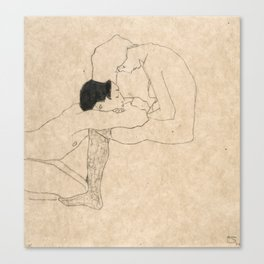 "Egon Schiele ""Lovers"" Canvas Print"