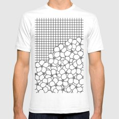 Forget Me Knot Grid SMALL Mens Fitted Tee White