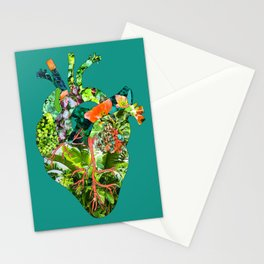 Botanical Heart Green Stationery Cards