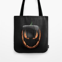 pumpkin Tote Bags featuring pumpkin by Duitk