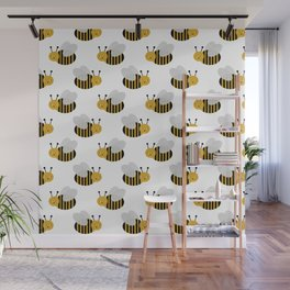 Bee kids insects decor for boys and girls nursery room bumble bees Wall Mural