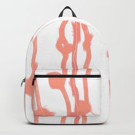 Fluffy lines twisting and turning no. 24 Backpack