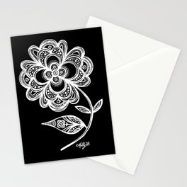 White Flower 105 Stationery Cards