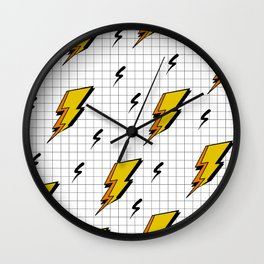 Pop art for streak of lightning Wall Clock
