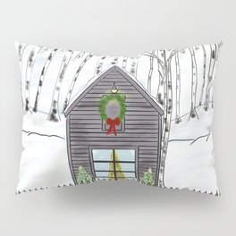 Christmas Cabin In The Snowy Woods Pillow Sham