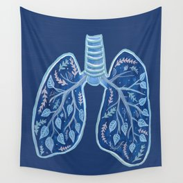 Botanical Lungs - Breathe Deep  Wall Tapestry