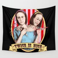 ahs Wall Tapestries featuring Tattler Twins (color) by marziiporn