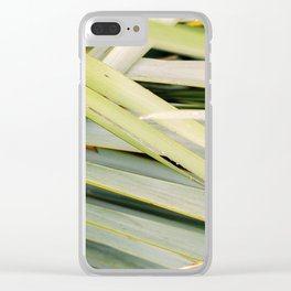 Greens close up | Tropical leaves in Punakaiki New Zealand film photography Clear iPhone Case