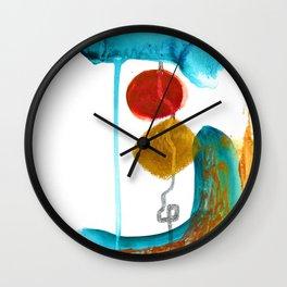 """Give and Take"". Phthalo Green Series, No. 15. Wall Clock"
