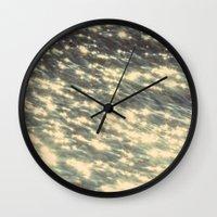 sparkles Wall Clocks featuring Sparkles  by Julia Kovtunyak