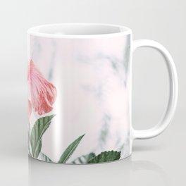 Blooming Pink Hibiscus Flower Coffee Mug