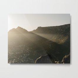 Capetown Lionshead sunrise | Travel photography art print Metal Print