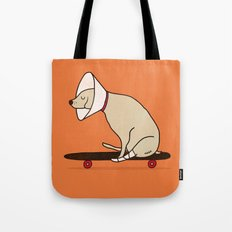 Cone of shame won't stop me Tote Bag