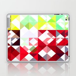 Mixed Color Poinsettias 2 Abstract Triangles 1 Laptop & iPad Skin