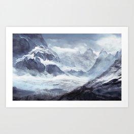 Mont Blanc massif, French Alps Art Print