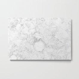 Marble Gray Metal Print