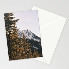 Snow Mountain in the Trees Stationery Cards