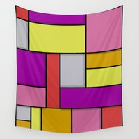 mondrian Wall Tapestries featuring Mondrian #6 by Ron Trickett
