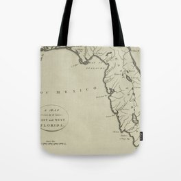 Vintage Map of Florida (1794) Tote Bag