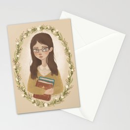 Literary Girl Stationery Cards
