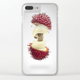 Flying Rambutan Clear iPhone Case