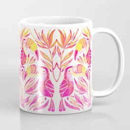 Tropical Toucans – Pink & Melon Ombré Coffee Mug