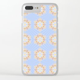 Grandis Snowflakes With Malibu Starburst Backdrop Clear iPhone Case